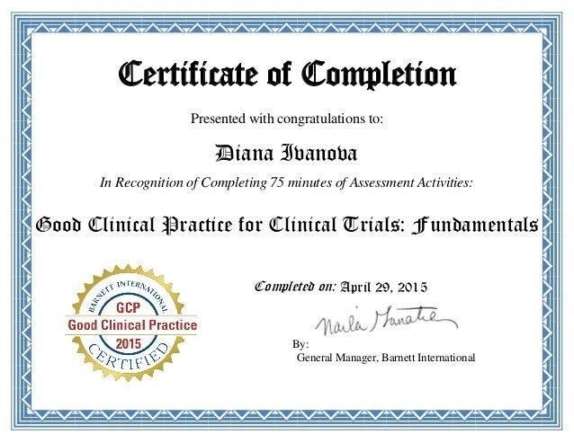ich gcp certificate diana ivanova