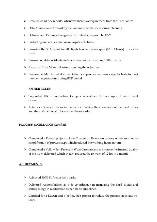 providing support to meet work objectives in resume