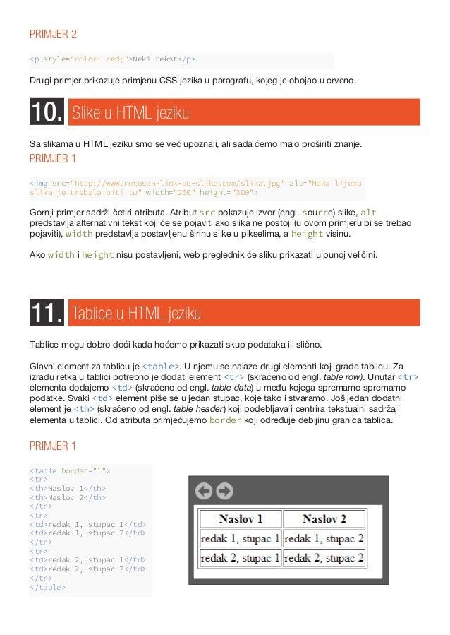 web mjesto za upoznavanje html