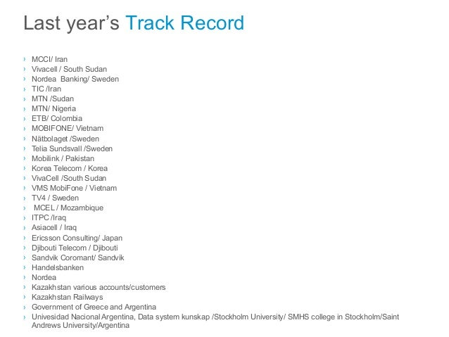 cv and track record claudia masel skogsberg november 2014