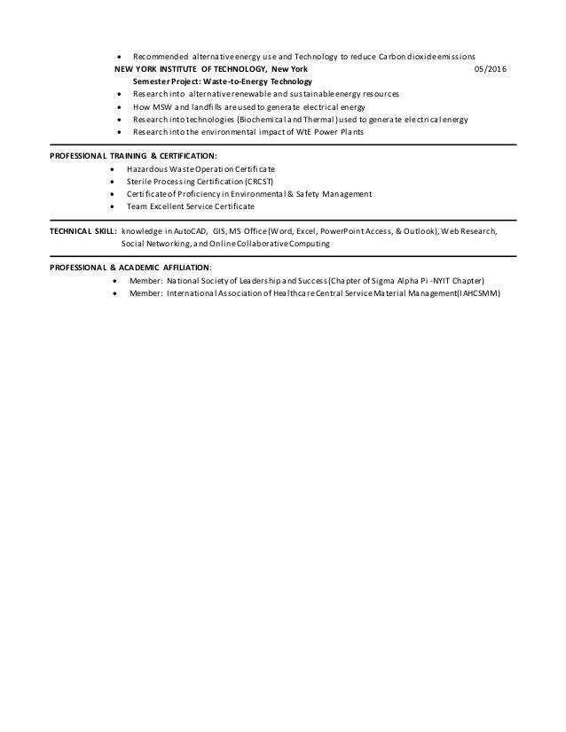 Enchanting Alternative Energy Technology Resume Model ...