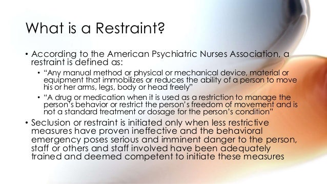 The Use Of Restraints In A Pediatric Population