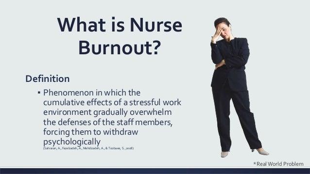 nurse burnout acute care capstone presentation