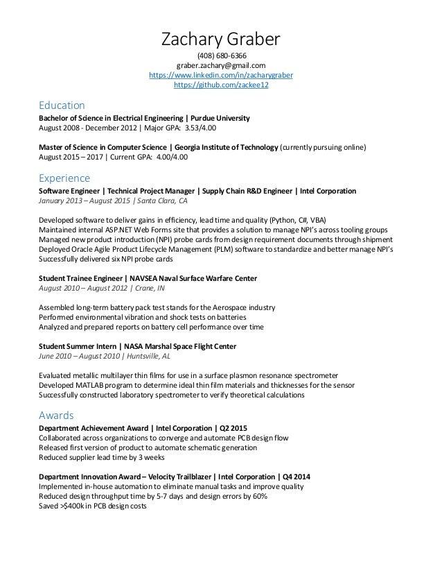 Resume - Zachary Graber