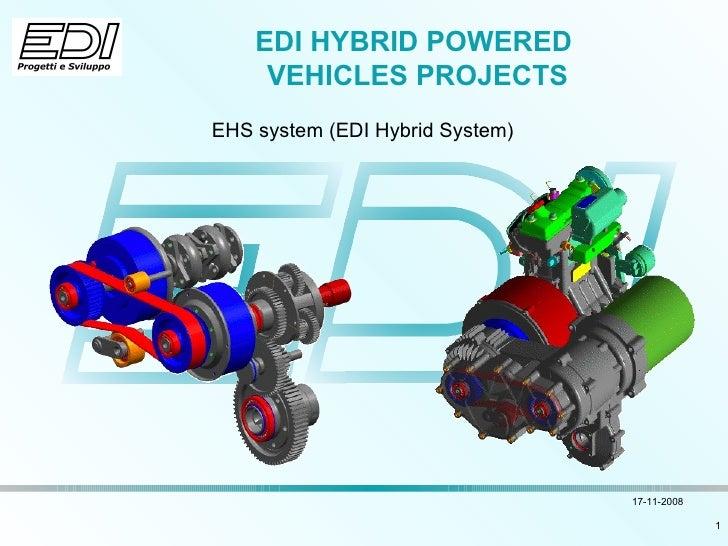 EDI HYBRID POWERED  VEHICLES PROJECTS EHS system (EDI Hybrid System)