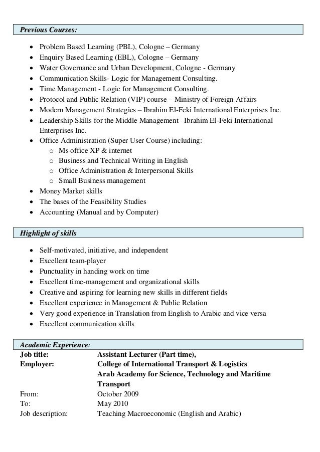 resume example for operations management susan ireland