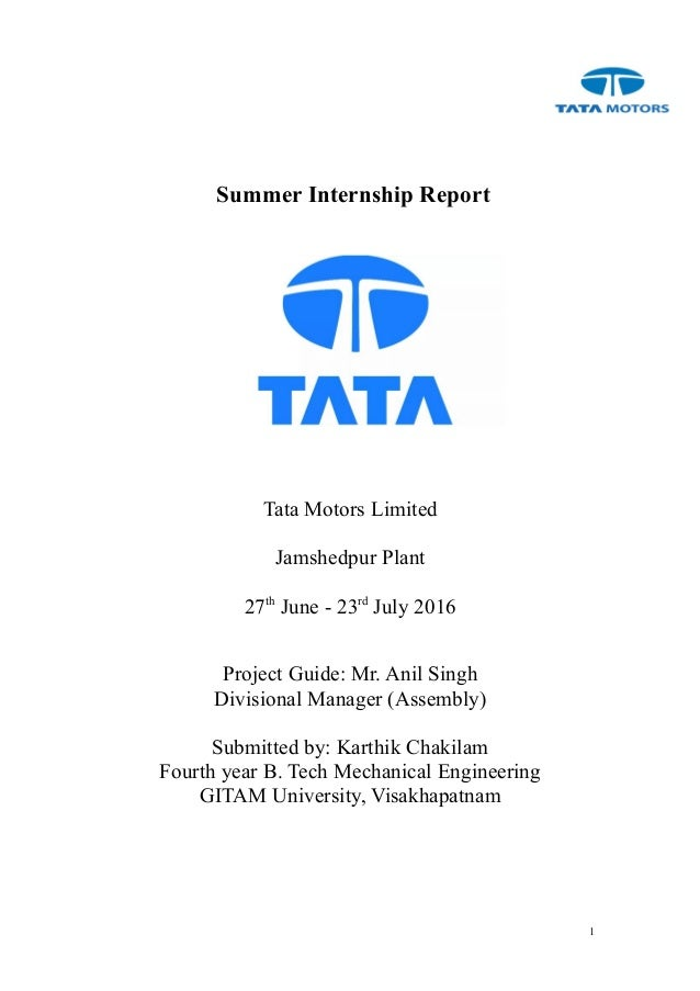 Tata Motors Summer Internship - impremedia.net