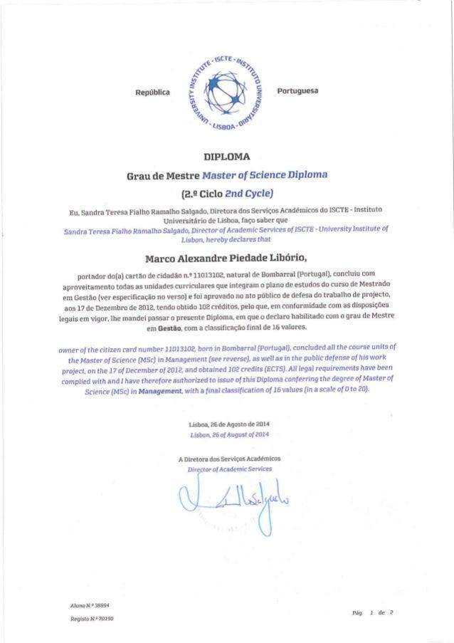 Certificado Mestrado ML