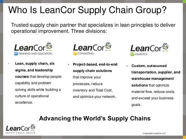 LeanCor Corporate Introduction Template 2015 Slide 2