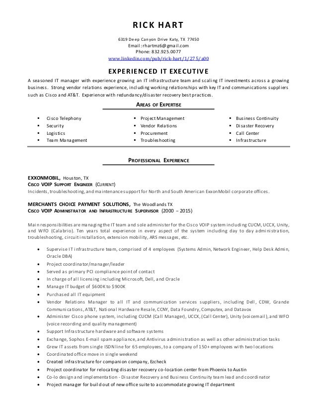 Cisco Resume  ApigramCom