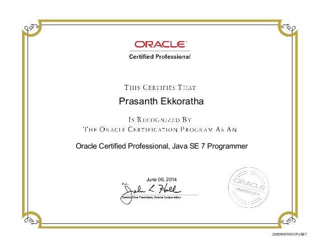 OCP Certificate