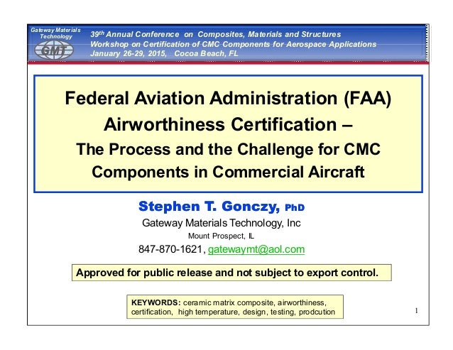 CMC FAA Certification