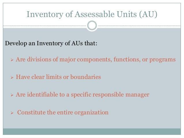 Sample Inventory of AUs