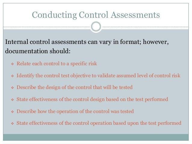 Sample Control Assessment