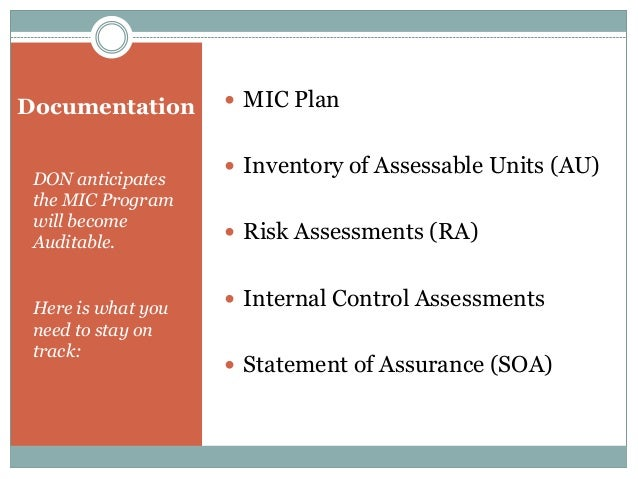 Sample Risk and Opportunity Risk:  Stand-alone NOSC facilities are not in compliance with ATFP criteria. NOSC facilities ...