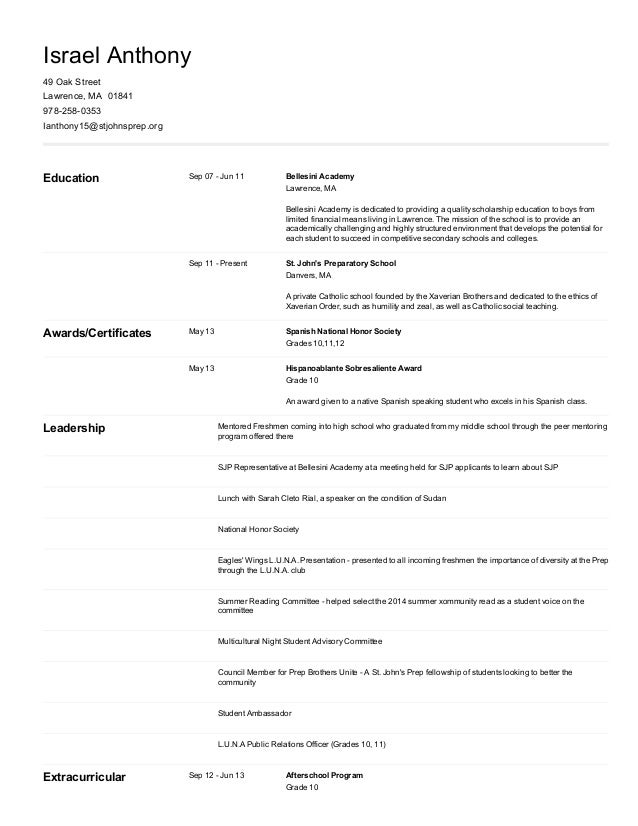 4/25/2015 Resume https://connection.naviance.com/ ...