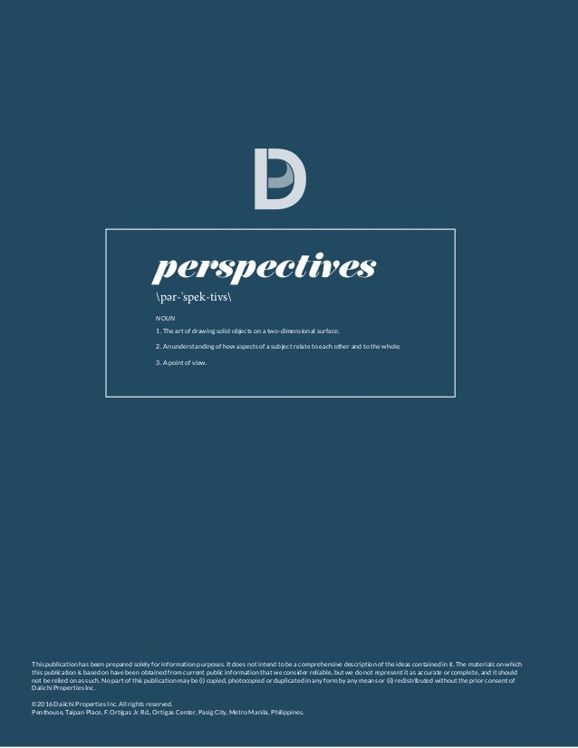 | PERSPECTIVES This publication has been prepared solely for information purposes. It does not intend to be a comprehensiv...