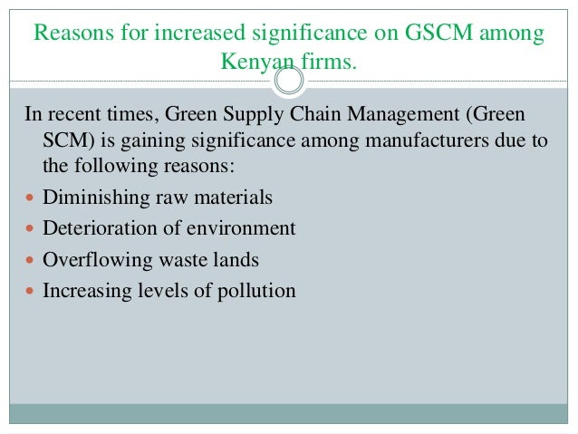 green supply chain management pdf