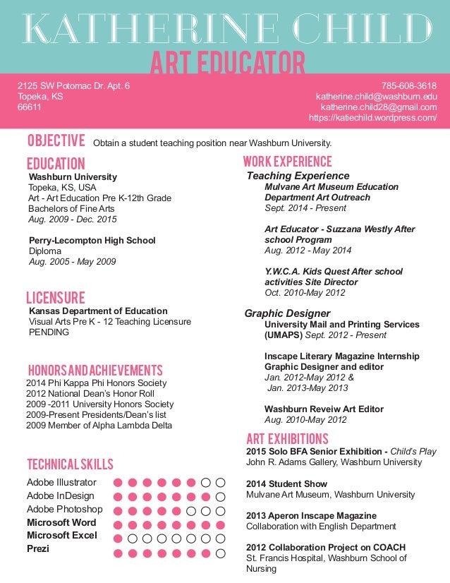 bfa resume student teaching