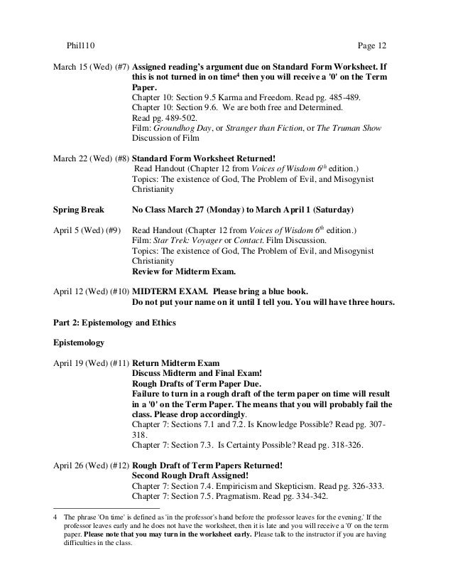 intro to philosophy syllabus 13