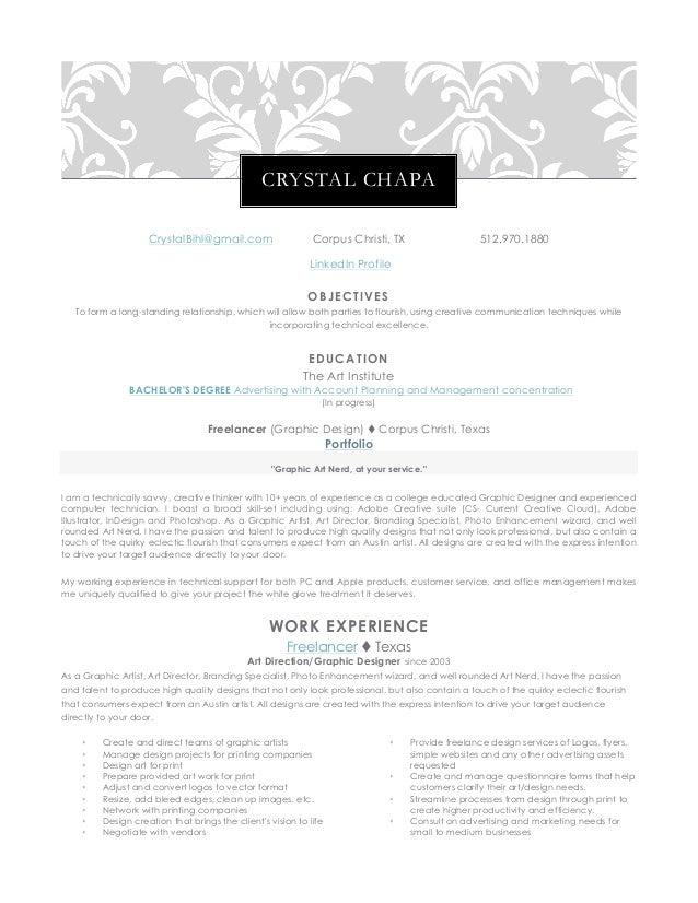 crystal chapa 2015 resume