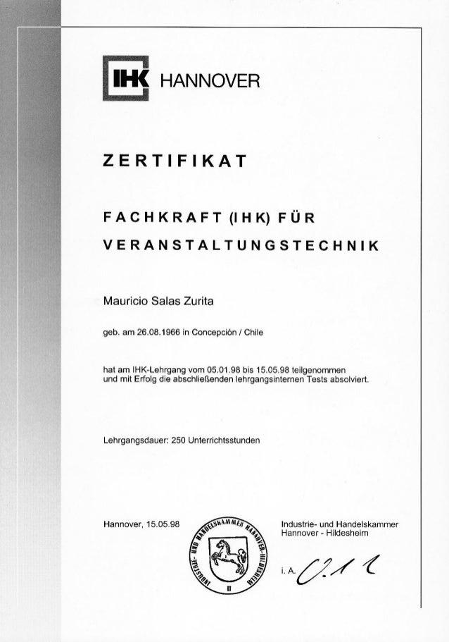 Zertifikat Fachkr.f.Veranst.