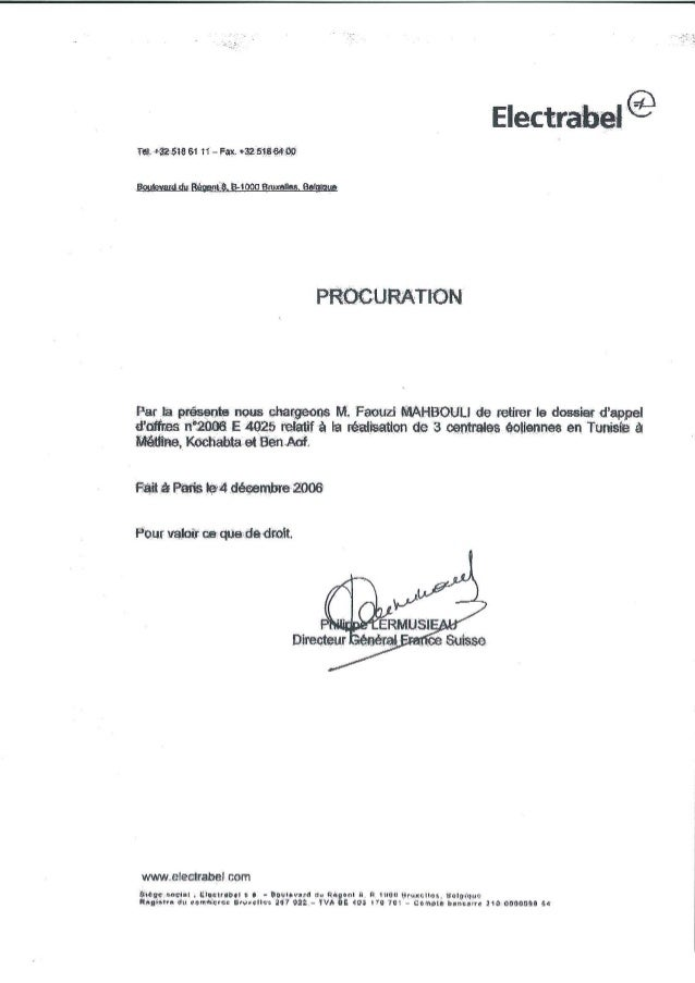 2006 12 04 procuration tunisie