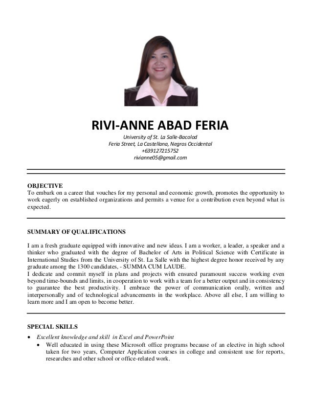 Civil Service Resume Format | Resume Format