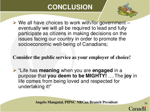 why work in public sector
