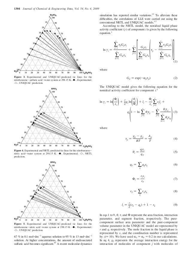 Liquid-Liquid Equilibria of Nitrobenzene-Inorganic Acid