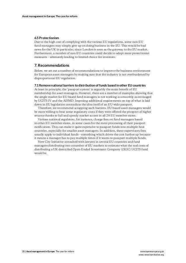 asset management setup regulation in europe pdf