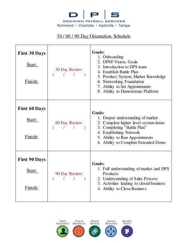 dpsf training program sample