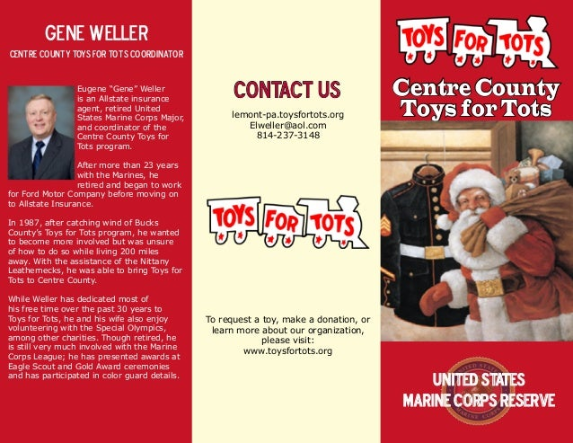 Toys For Tots Advertisement : Tft brochure