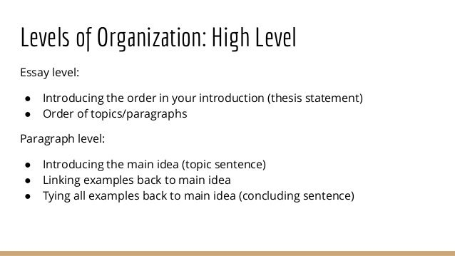 Thesis statement order