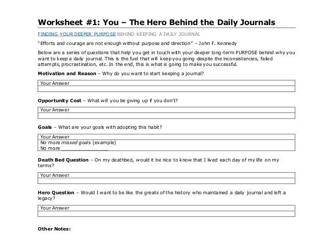 daily journal template download jawwad siddiqui