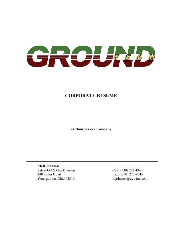 Ground Tech Resume SlideShare