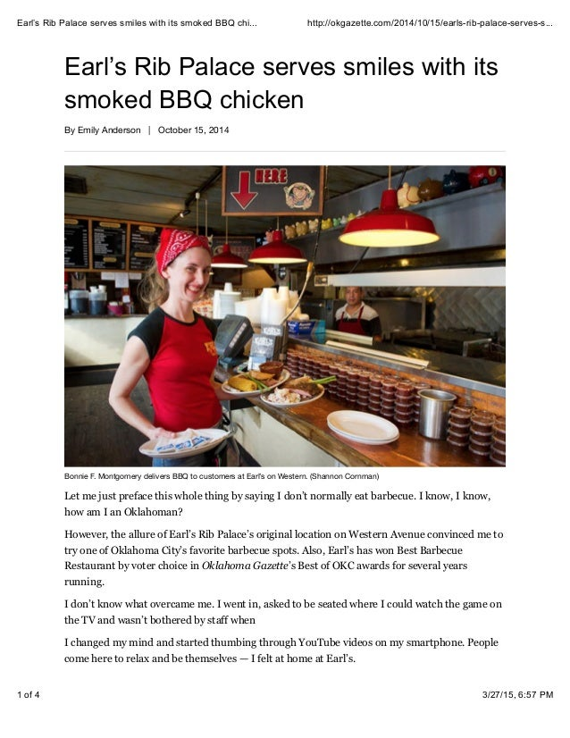 Earl S Rib Palace Serves Smiles With Its Smoked Bbq Chicken