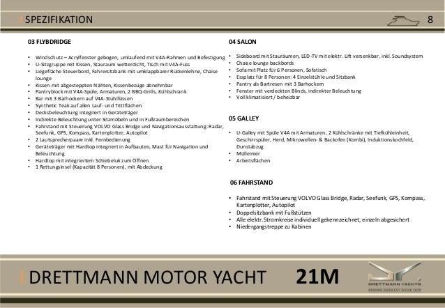 I DRETTMANN MOTOR YACHT 03 FLYBDRIDGE • Windschutz – Acrylfenster gebogen, umlaufend mit V4A-Rahmen und Befestigung • U-Si...