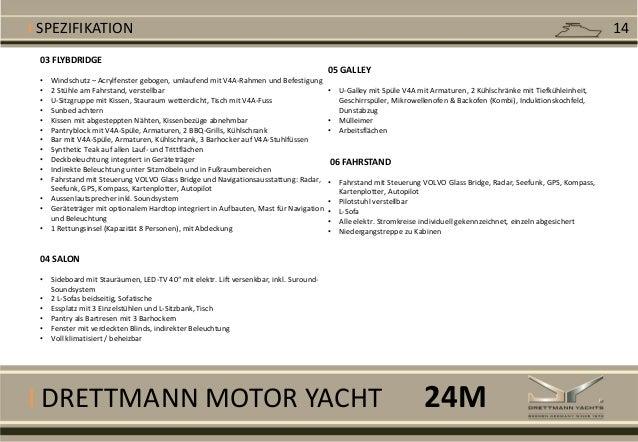 I DRETTMANN MOTOR YACHT 03 FLYBDRIDGE • Windschutz – Acrylfenster gebogen, umlaufend mit V4A-Rahmen und Befestigung • 2 St...