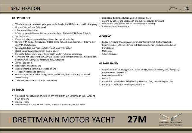 I DRETTMANN MOTOR YACHT 03 FLYBDRIDGE • Windschutz – Acrylfenster gebogen, umlaufend mit V4A-Rahmen und Befestigung • Dopp...