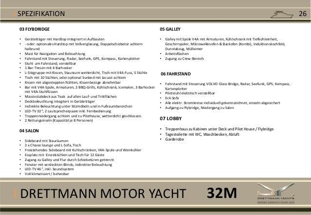 I DRETTMANN MOTOR YACHT 03 FLYBDRIDGE • Geräteträger mit Hardtop integriert in Aufbauten • - oder: optionales Hardtop mit ...