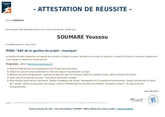 certificat mooc gestion de projet