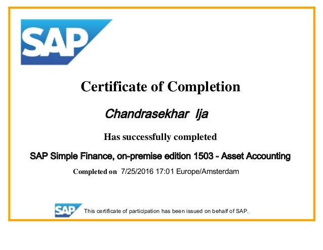 Certificate Simple Finance 1503 Ija Chandra Pdf