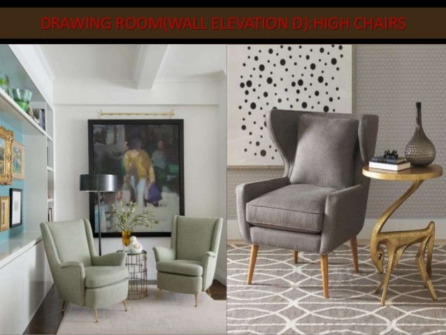 DRAWING ROOMWALL ELEVATION DHIGH CHAIRS
