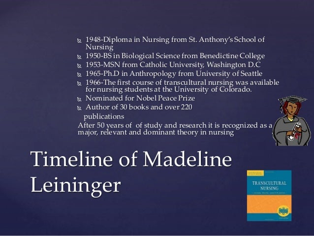 analysis and critique of madeleine leininger Analysis of madeleine leininger s theory notice various styles of leadership and review some of the suggested traits and characteristics that leaders should have.