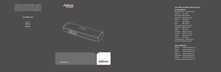 © 2007 GN A/S. All rights reserved. Jabra® is a registeredtrademark of GN A/S. All other trademarks included hereinare the...