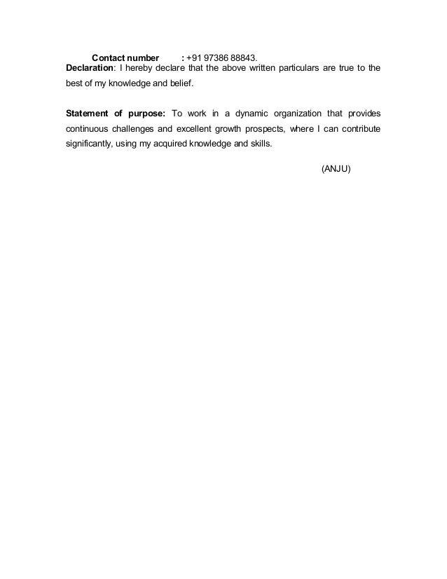 anju resume