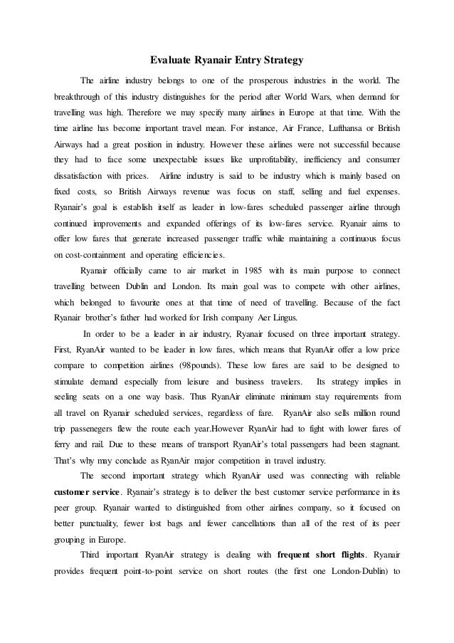 INTERNATIONAL STRATEGY OF RYANAIR