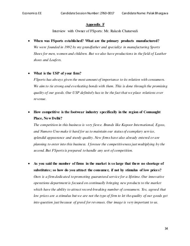interview Essay Examples