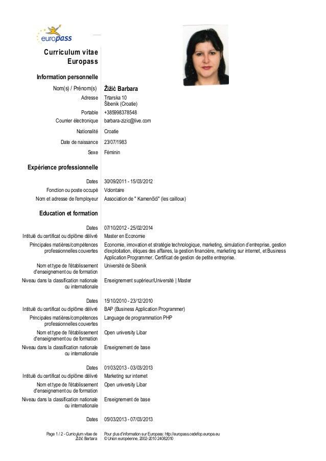 europass cv 2